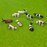 d32b16a0513 10 Pç Vaca Miniatura Mini Jardim Maquete Terrário Ho 1 87
