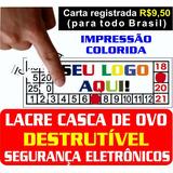 1360 Lacres Casca De Ovo Garantia   1x1 Cm  Confira Outros