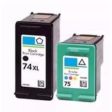 2 Cartuchos Hp 74xl   75 C P  Impressora Hp Photosmart C4480