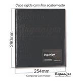 Álbum Fichário Pasta Para 200 Moedas Comporta Coin Holder