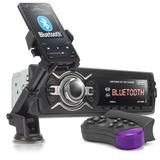 Auto Radio Automotivo Mp3 Bluetooth Kp c30 Controle Suporte