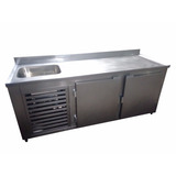 Balcão Refrigerado De Encosto Com Cuba 1 50 M Refrigel