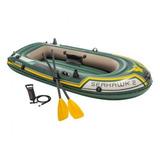 Barco Bote Inflável Intex Seahawk 200 Kg Bomba E Remos