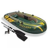Barco Bote Inflável Seahawk 3 P  3 Pessoas   300kg Intex