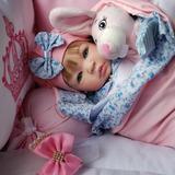 Bebe Reborn Barata Real  Rosaazul Loira   Bolsa