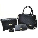 7a2c98b6cb Bolsa Feminina Kit Com 3 Bolsas Grande Pequena Bau Carteira