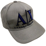 Boné Armani Exchange Ax Aba Curva Cinza azul e0b2310567c