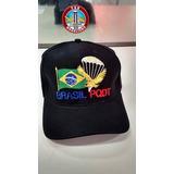 Boné Exercito Brasil Pqdt Paraquedistas Bordado 100% Algodão 56387755be960