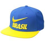 Boné Nike Seleção Brasileira Aba Reta Azul amarelo original 015486011d6