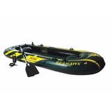 Bote Inflável Intex Seahawk 4 P  4 Pessoas Remos Bomba Barco