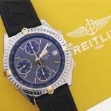 8e9249c927f Breitling Chronomat Ouro   Aço 40mm Pulseira Borracha