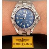 d13eb39efcb Breitling Superocean Todo De Aço Blue Dial 1500 Metros