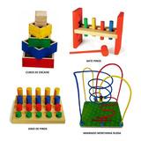 Brinquedos Educativos Pedagógico Com 4 Jogos Para Crianças