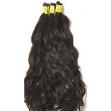 Cabelo Humano Natural Mega Hair Ondulado 70 75 Cm   100gr