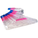 Cabide Infantil Cristal Acrílico Transparente   50 Peças