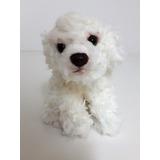 Cachorro Branco   15cm   Bicho De Pelúcia