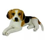 Cachorro De Pelúcia Beagle Deitado 53cm Lindo Decoração