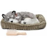 Cachorro Husky Perfect Petzzz Que Respira De Pelúcia 38cm