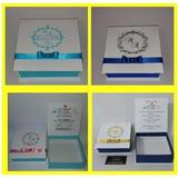 Caixa Para Convite E Lembrança Padrinhos 14x14x4 5 Pct 13uni