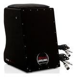 Cajón Eletroacústico Witler Drums | 02 Cabos | Brinde