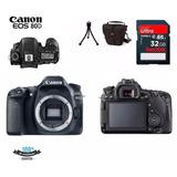 Câmera Canon Eos 80d Corpo bolsa tripé 32gb Rev Autorizada