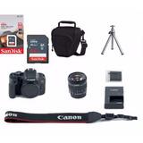 Câmera Canon Rebel T7i C  18 55mm  64gb  Bolsa  Tripé  Nf e