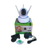 Camera Robo 3 Antenas Ip Wifi 360º 720p Sistema Yoosee yyp2p