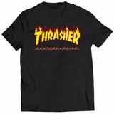 Camisa Camiseta Thrasher Flame Skateboard Skate Magazine