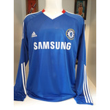 Times Ingleses   Camisa Chelsea Mangas  789f7da80fd4a