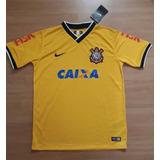 Camisa Corinthians Amarela Caixa Feminina Nova Original 14d4152f96208