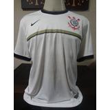 Camisa Corinthians Nike Escudo Silkado Tam Gg 34174a5feab7c