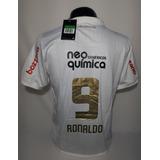 Camisa Corinthians Nike Home Centenário Ronaldo9 Boys Tamgg 267fcd837dd60
