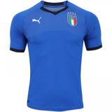 Camisa Da Itália Jogador Nova Copa Puma Azul Branca Seleção ad14e81d0fac8