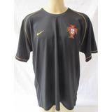 Camisa De Futebol Da Seleção De Portugal Preta Nike 2006 Ss 36ee85cff375f