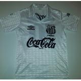 4c5bb3de8b Camisa Do Santos Antiga 1990 Original Umbro Coca Cola 90