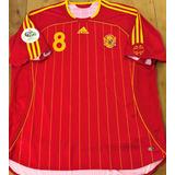 Camisa Espanha Copa Do Mundo 2006 Xavi 8 Completa Rara 30ced8ec95e17