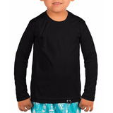 Camisa Infantil Com Proteção Solar Uv Fps50  Manga Longa