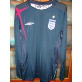 Camisa Inglaterra 2005 2006 Goleiro Azul Tamanho P 049ecb7423840