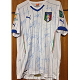 21712ca9d3 Camisa Itália Autografada Elenco Copa Do Mundo 2014
