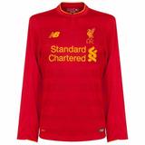 f50420abd7 Camisa Liverpool Home 16 17 Manga Longa Importada