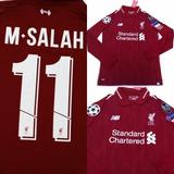 a0ca707299 Camisa Liverpool Home 2018 Mangas Longas
