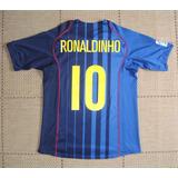 6f772bf42e Camisa Original Barcelona 2004 2005 Away 10 Ronaldinho