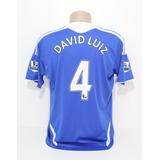 88b9f8d036 Camisa Original Chelsea 2011 2012 Home 4 David Luiz