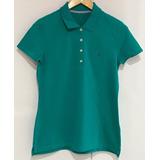 Camisa Polo Lisa Tommy Hilfiger Original Feminina 037fcab4ef3