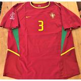 Camisa Portugal Copa 2002 Abel Xavier  3 Completa Rara 3c427954c3fc0
