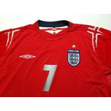 Camisa Seleção Inglaterra Euro 2004 Mangas Longas Away Xl 7b2de394d8826