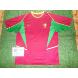 Camisa Seleção Portugal 2002 2003 Nike Home d27561de82943