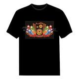 Camiseta Led Eletrônica Camisa Luminosa 15   Som E Estrelas