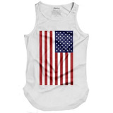 Camiseta Regata Bandeira Estados Unidos Eua Usa Swag Longa d6258a861eb