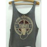 7b7c6423d1 Camiseta Regata Nirvana Feminina Tam M